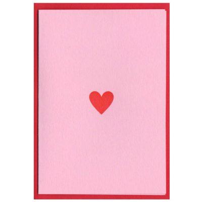 Heart #2 - letterpress pohľadnica Pressink
