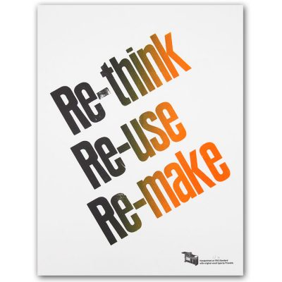 Re-think, Re-us, Re-make, A2 - Pressink / grafika