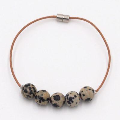 Dalmatínsky jaspis malý - minerálny kameň / náramok