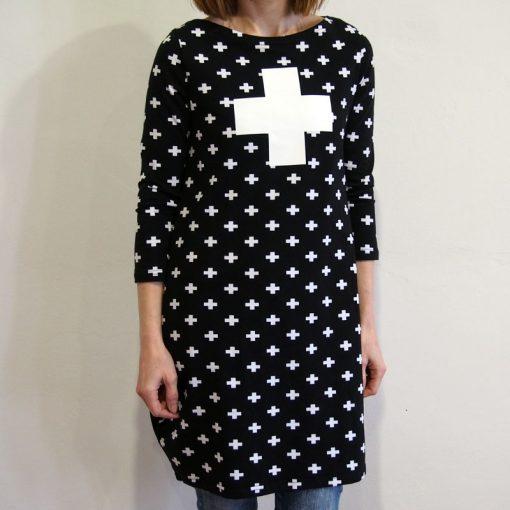 Čierne krížikové šaty FundaLuka
