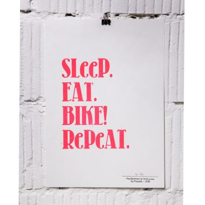 sleep eat bike repeat A4 print