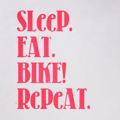 sleep eat bike repeat A4 print