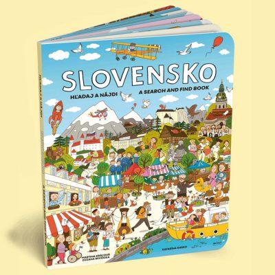 Slovensko hľadaj a nájdi - Martina Kráľová, Zuzana Revúcka / leporelo kniha