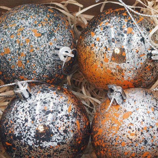 Vianočné gule Streetart #19-02 / sada 6ks
