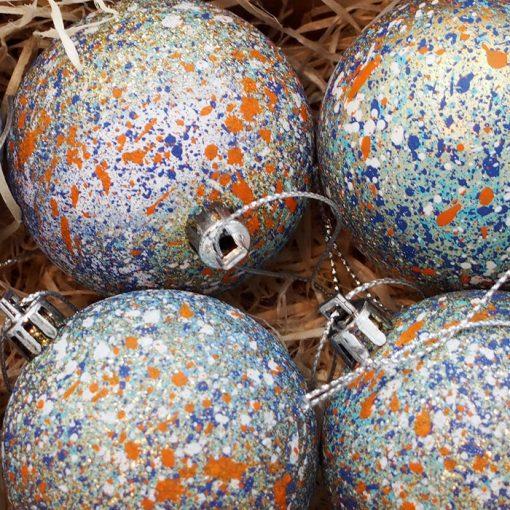 Vianočné gule Streetart #19-13 / sada 6ks