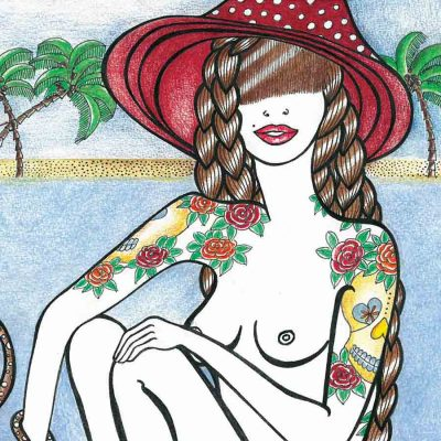 summer kinda girl katarina branisova illustrations grafika