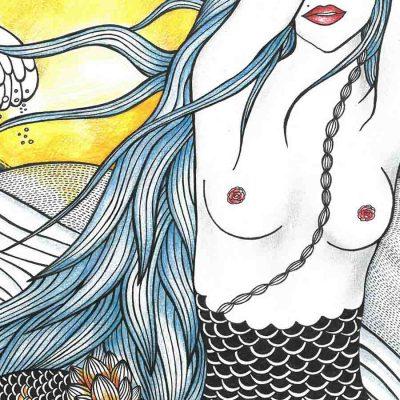 sunset sounds katarina branisova illustrations grafika