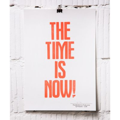 the time is now A4 print