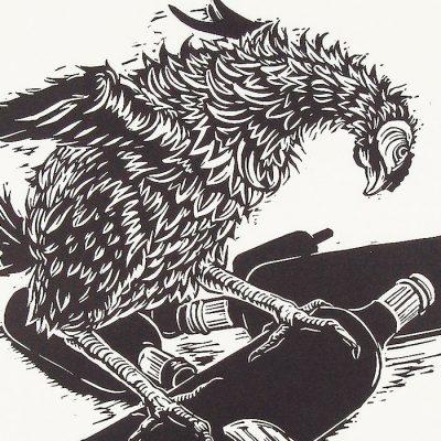 Bicyklové kura - Tomáš Klepoch / linorytová grafika