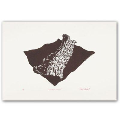 Posledná slanina - Tomáš Klepoch / linorytová grafika