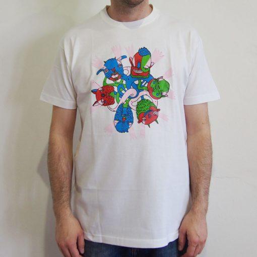 Biele pánske tričko Yaxplus Monsters
