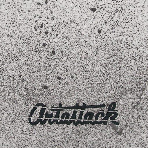 Biely Streetart vak s čiernym dizajnom #2