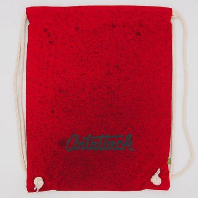 Červený Streetart vak s čiernym dizajnom #1