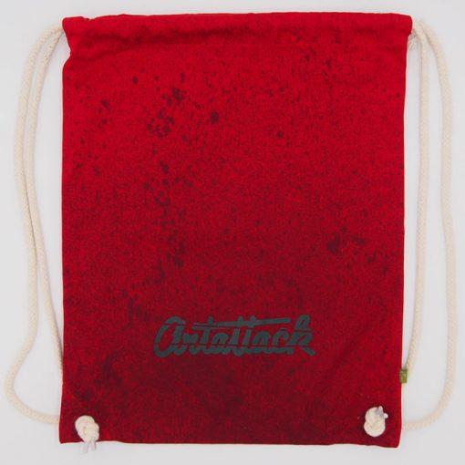Červený Streetart vak s čiernym dizajnom #2