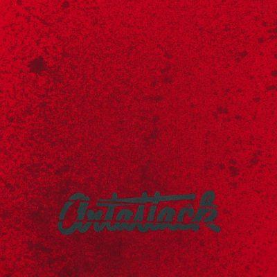 Červený Streetart vak s čiernym dizajnom #4