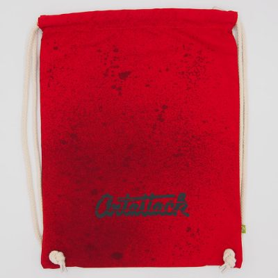 Červený Streetart vak s čiernym dizajnom #5