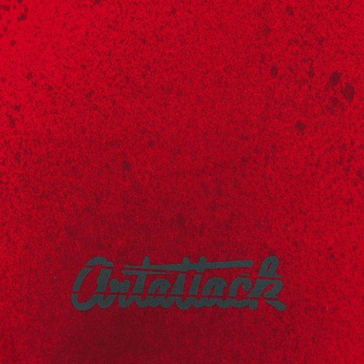 Červený Streetart vak s čiernym dizajnom #6