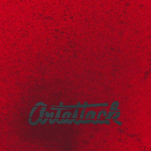 Červený Streetart vak s čiernym dizajnom #7