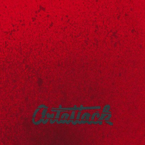 Červený Streetart vak s čiernym dizajnom #8