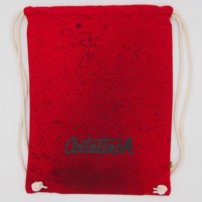 Červený Streetart vak s čiernym dizajnom #9