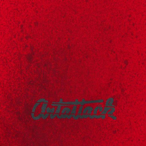 Červený Streetart vak s čiernym dizajnom #10