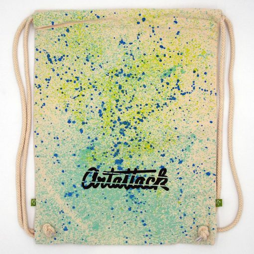 Natural Streetart vak s modro tyrkysovým dizajnom #6