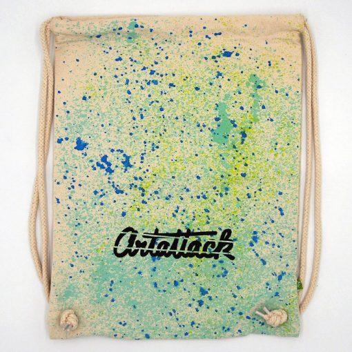 Natural Streetart vak s modro tyrkysovým dizajnom #7