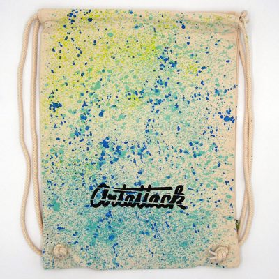 Natural Streetart vak s modro tyrkysovým dizajnom #10