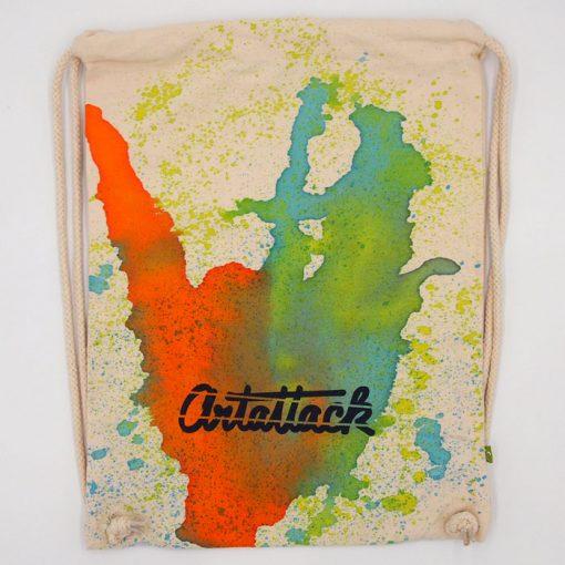 Natural Streetart vak s oranžovo zeleným dizajnom #1