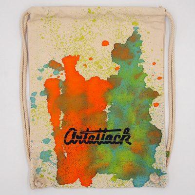Natural Streetart vak s oranžovo zeleným dizajnom #7