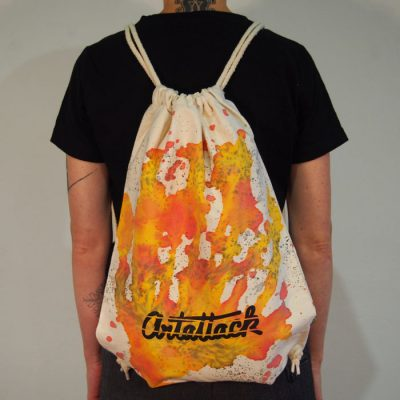 Natural Streetart vak s červeno žltým dizajnom #5