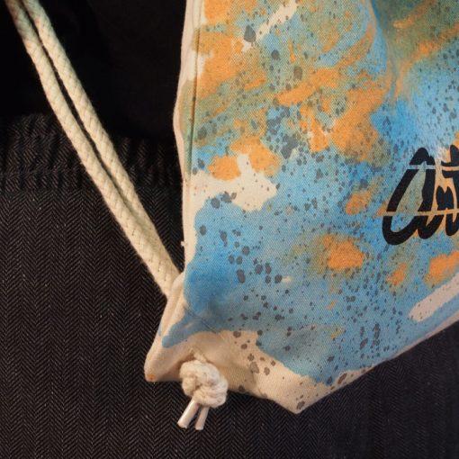 Natural Streetart vak s bledo modrým dizajnom #1