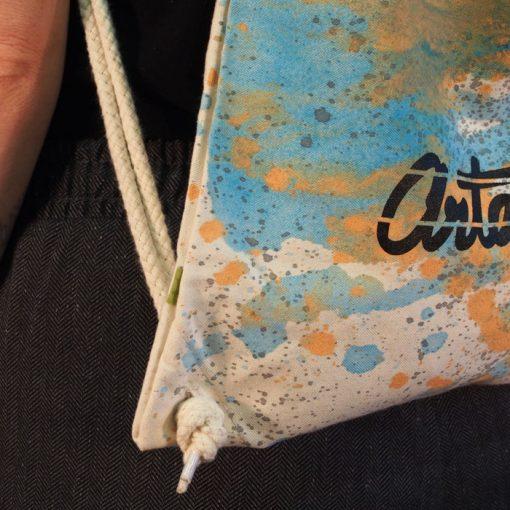 Natural Streetart vak s bledo modrým dizajnom #2