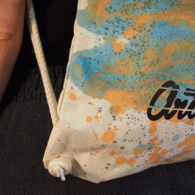 Natural Streetart vak s bledo modrým dizajnom #4