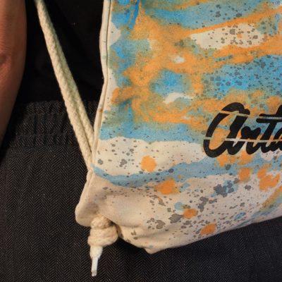 Natural Streetart vak s bledo modrým dizajnom #5