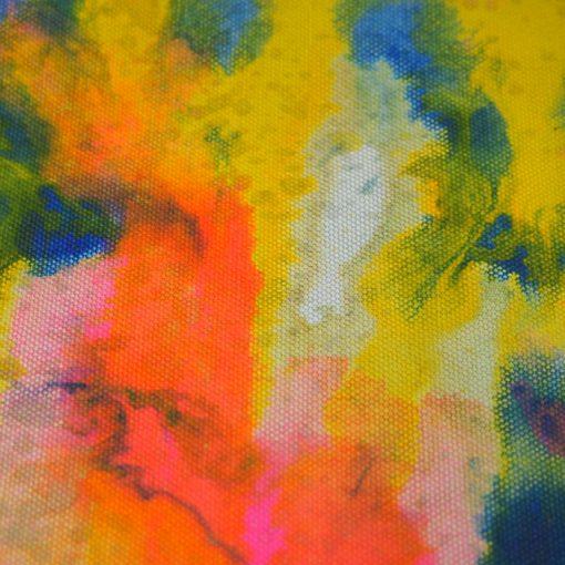 Sivý Streetart vak s farebným dizajnom #1