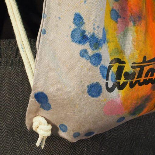 Sivý Streetart vak s farebným dizajnom #4