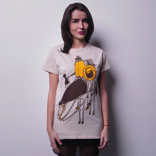 Hnedé dámske tričko Yax