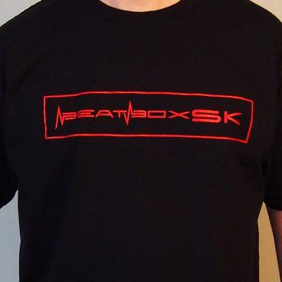 Tričko Beatbox Slovakia čierne s červeným logom