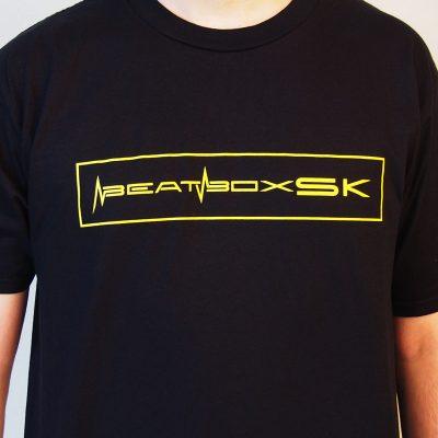 Tričko Beatbox Slovakia čierne s žltým logom