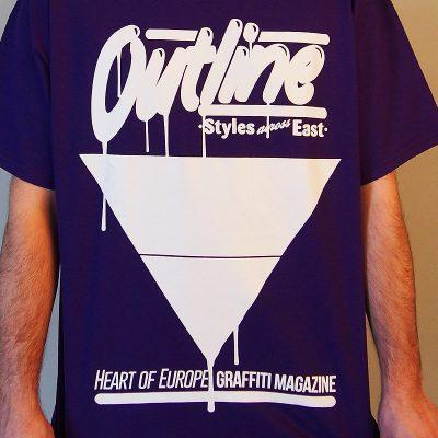 outline fialové pánske tričko