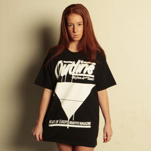 outline čierne pánske tričko