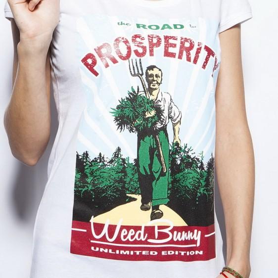 Road to prosperity biele dámske tričko