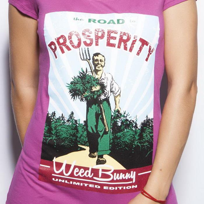 Road to prosperity ružové dámske tričko