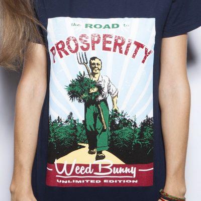 Road to prosperity modré pánske tričko