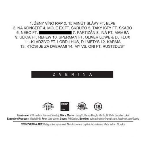 Zverina - Ženy, víno, rap CD