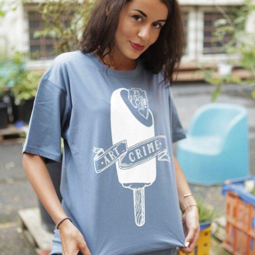 modré tričko Razor Blade