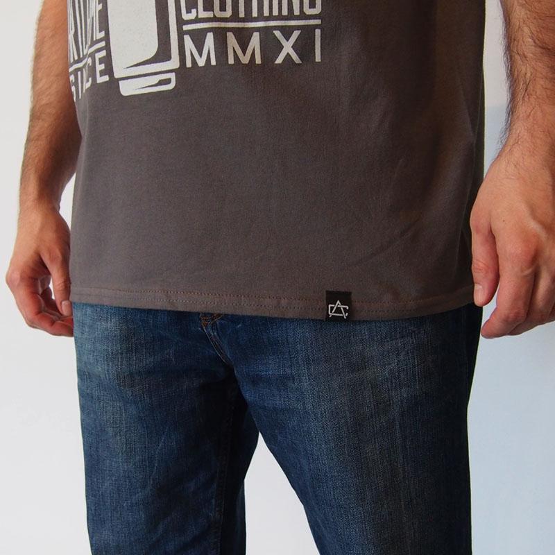 Sivé tričko ArtCrime Make your Mark