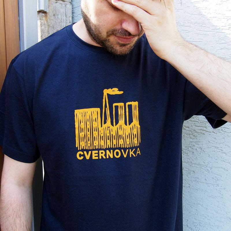Tmavo modré pánske tričko Cvernovka