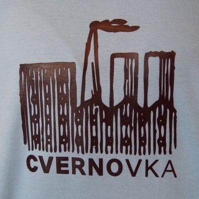 Dámske modré tričko Cvernovka logo